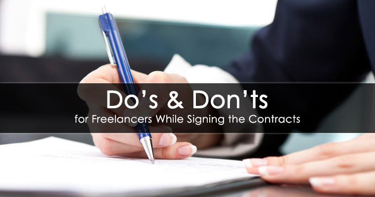 DoS And DonTs For Freelancers Contracts