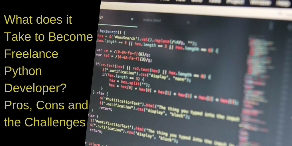 What does it Take to Become Freelance Python Developer? The Pros, Cons and the Challenges