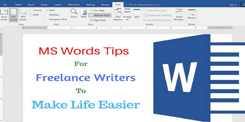 ms words tips for freelance writers