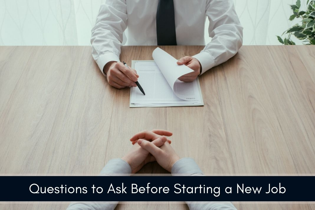 important questions to ask before starting a new job