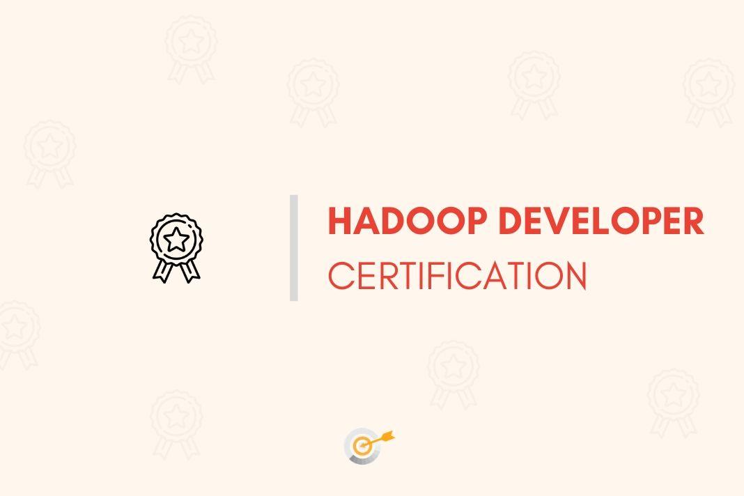 hadoop developer certification