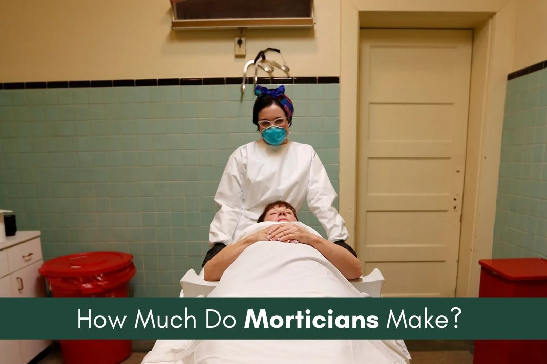 morticians salary