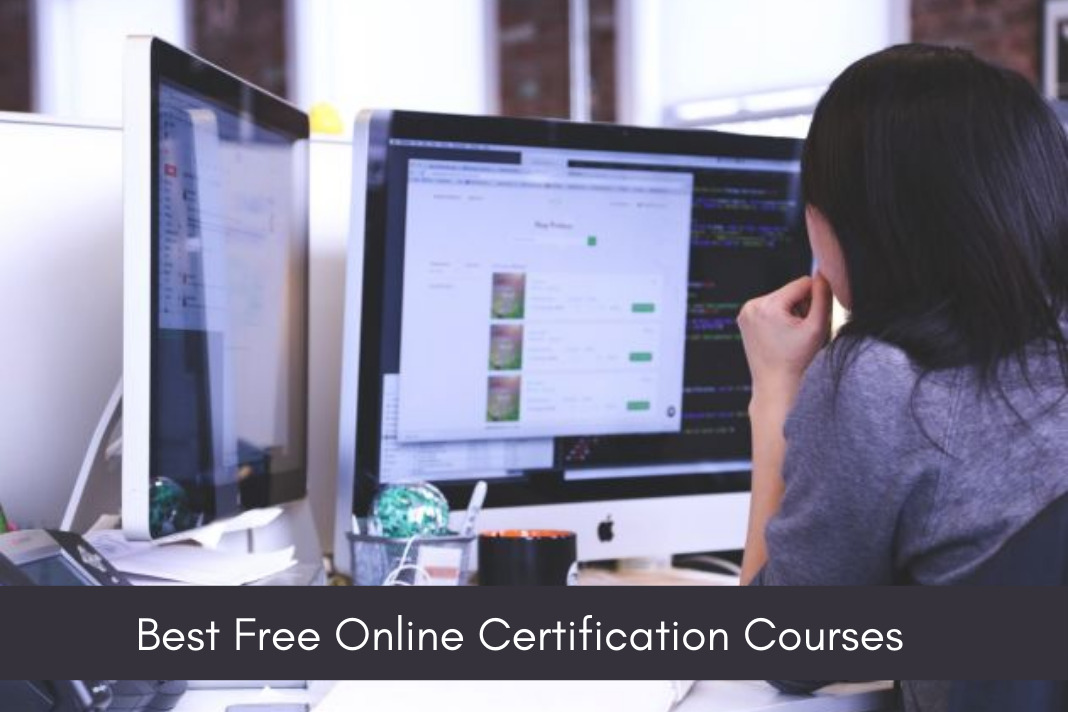 Free online certification courses